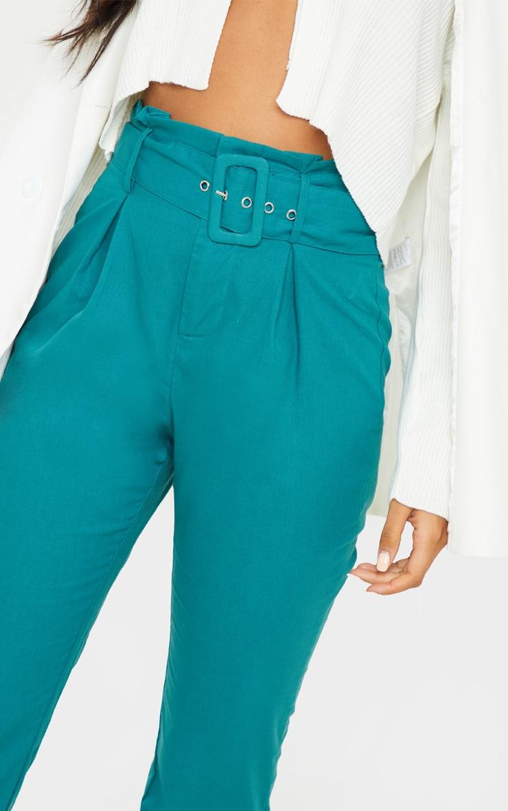 Jasper Green Belted Paperbag Tapered Pants 6