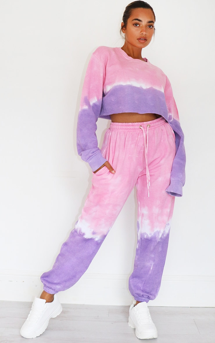 Petite Pink Ombre Oversized Jogger 1