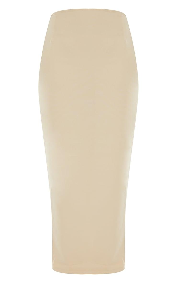 Stone Woven Split Back Maxi Skirt 5