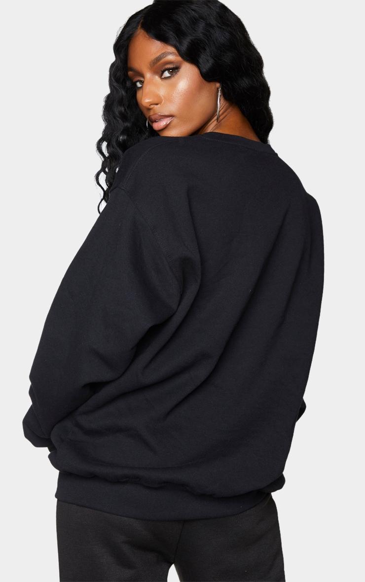 Black Los Angeles Basketball Printed Sweatshirt 2