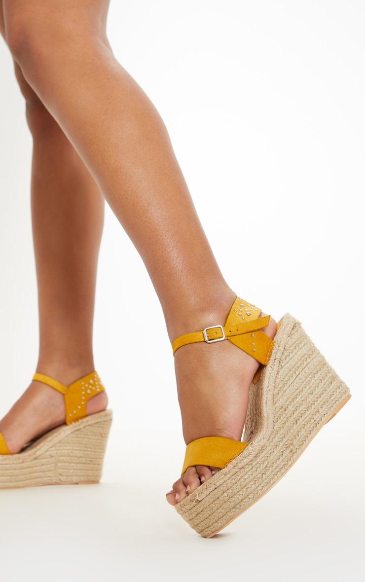 7a2376b1205 Mustard Triple Sole Platform Sandal | Shoes | PrettyLittleThing USA