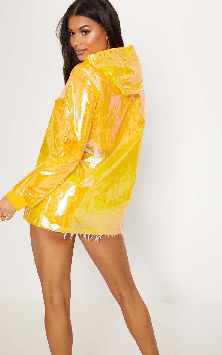 Imperméable jaune irisé 2