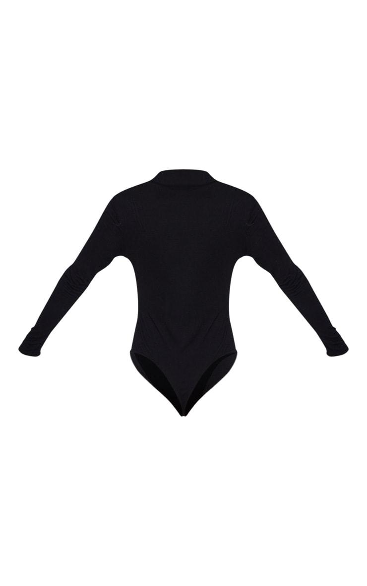 Black Bah Humbug High Neck Bodysuit 4
