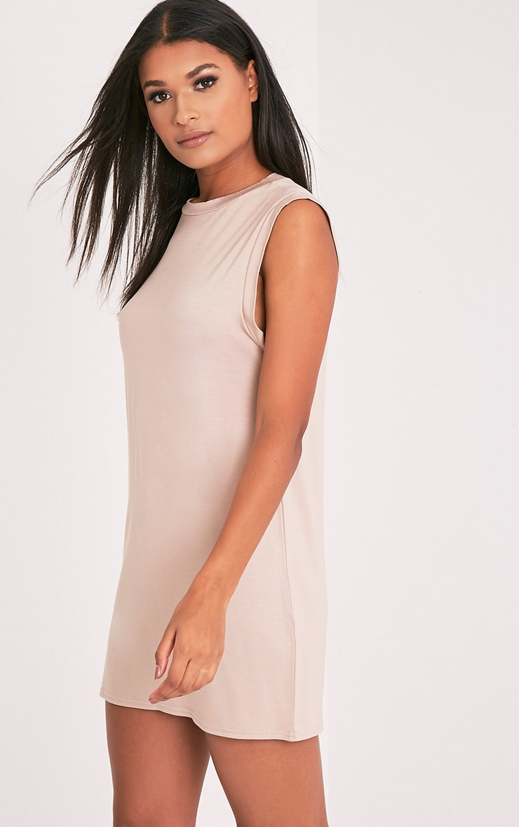 Lola Nude Sleeveless T-Shirt Dress 8
