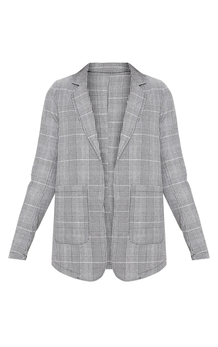 Tall Grey Checked Blazer  3