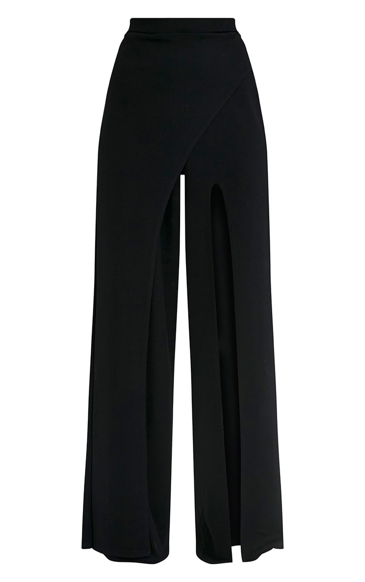 Chanelle Black Wrap Split Trousers 3