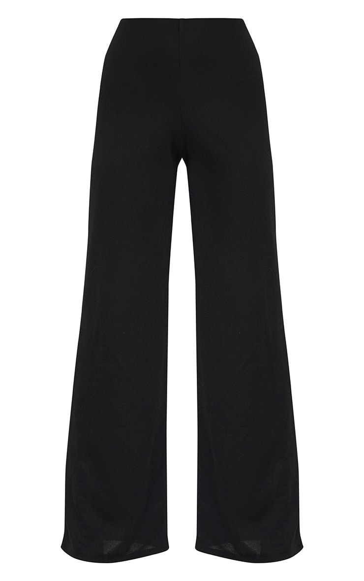 Petite Black Wide Leg Trousers 3