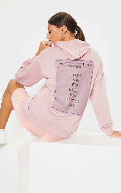 PRETTYLITTLETHING Tall Stone Oversized Hoodie