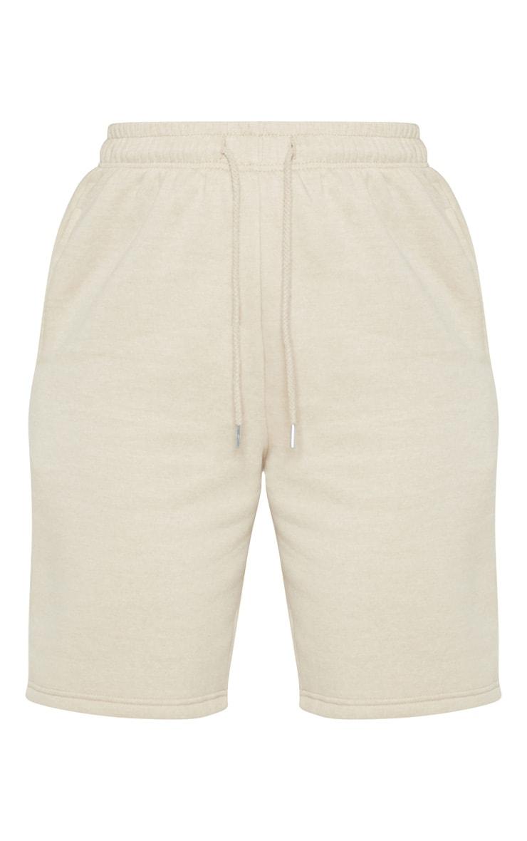 Stone Drawstring Sweat Longline Shorts 3