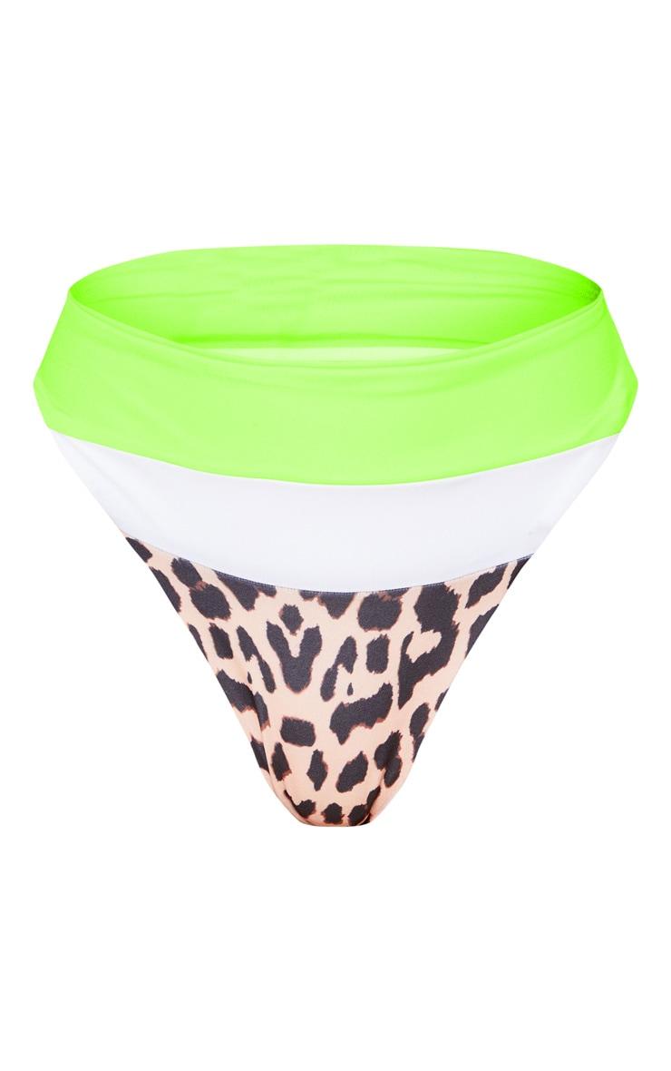 Leopard 3 Tone High Waist Bikini Bottom 3