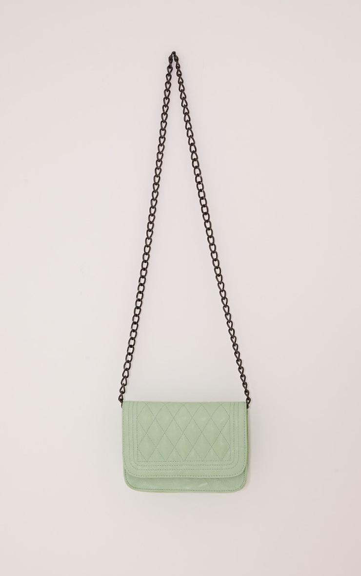 Emma Mint Quilted Chain Strap Shoulder Bag 2