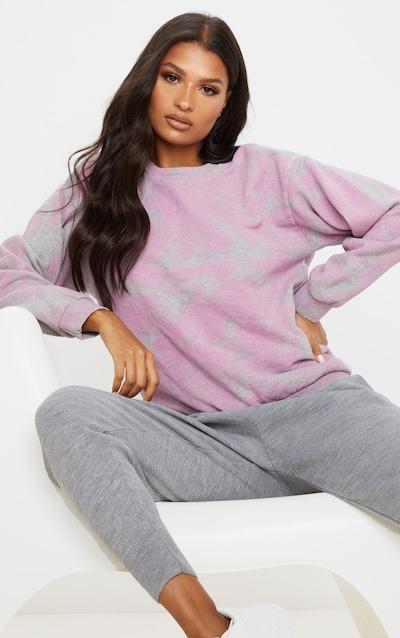 Pink Acid Wash Oversized Sweater