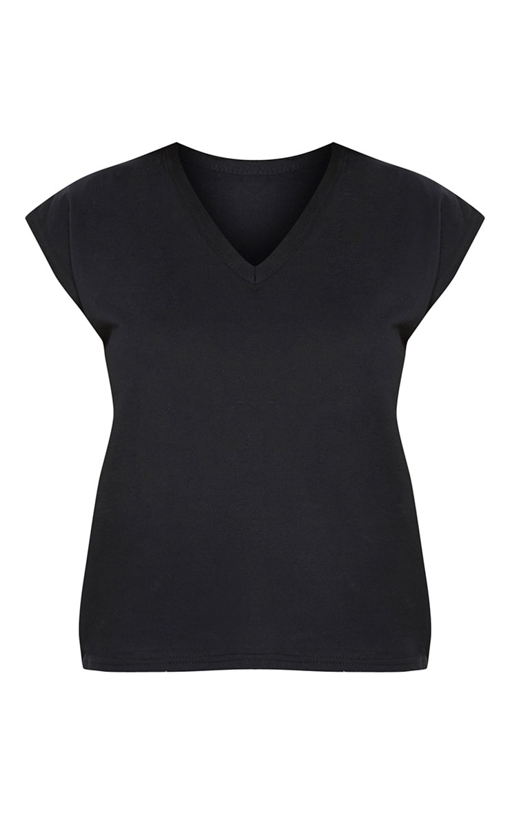 Black Basic V Neck Vest 3