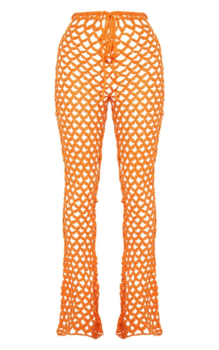 Orange Crochet Flares 3