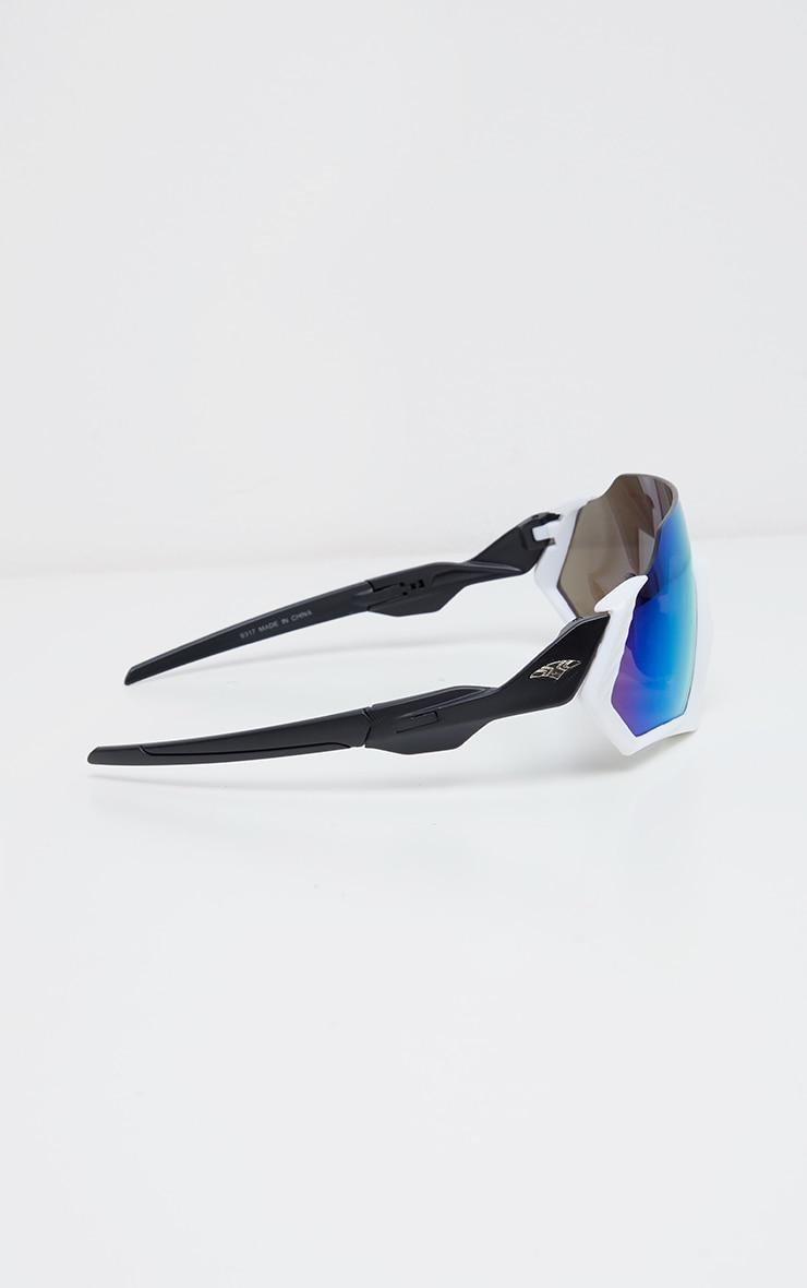 White Revo Lens Sunglasses 3