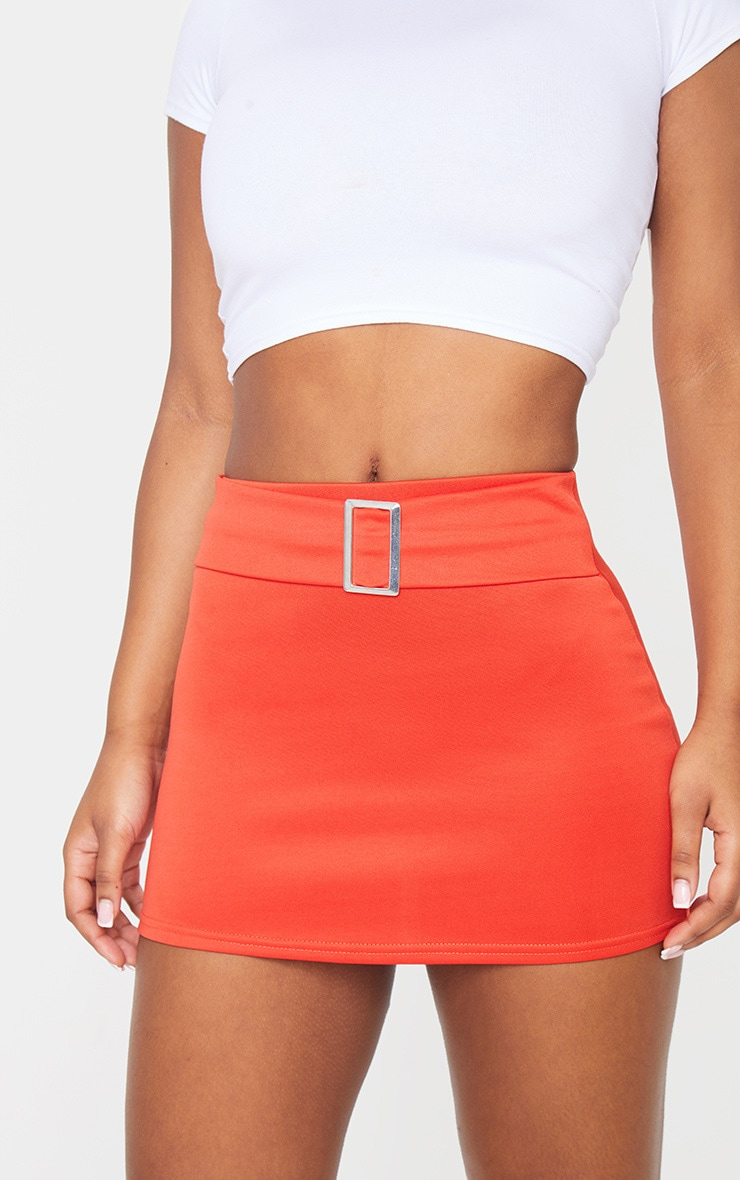 Tangerine Low Waist Belted Mini Skirt 5