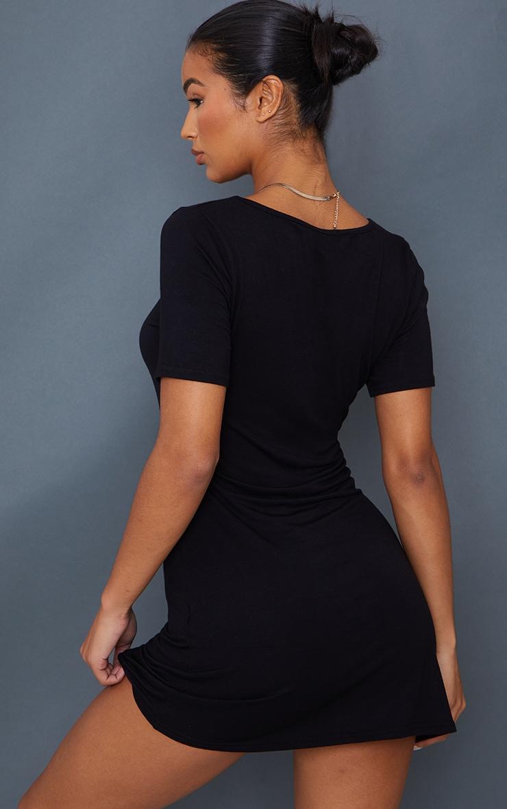 Black Square Neck Shift Dress 2
