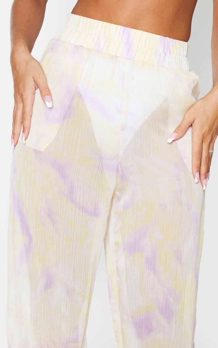 Lilac Tie Dye Wide Leg Beach Pants 4
