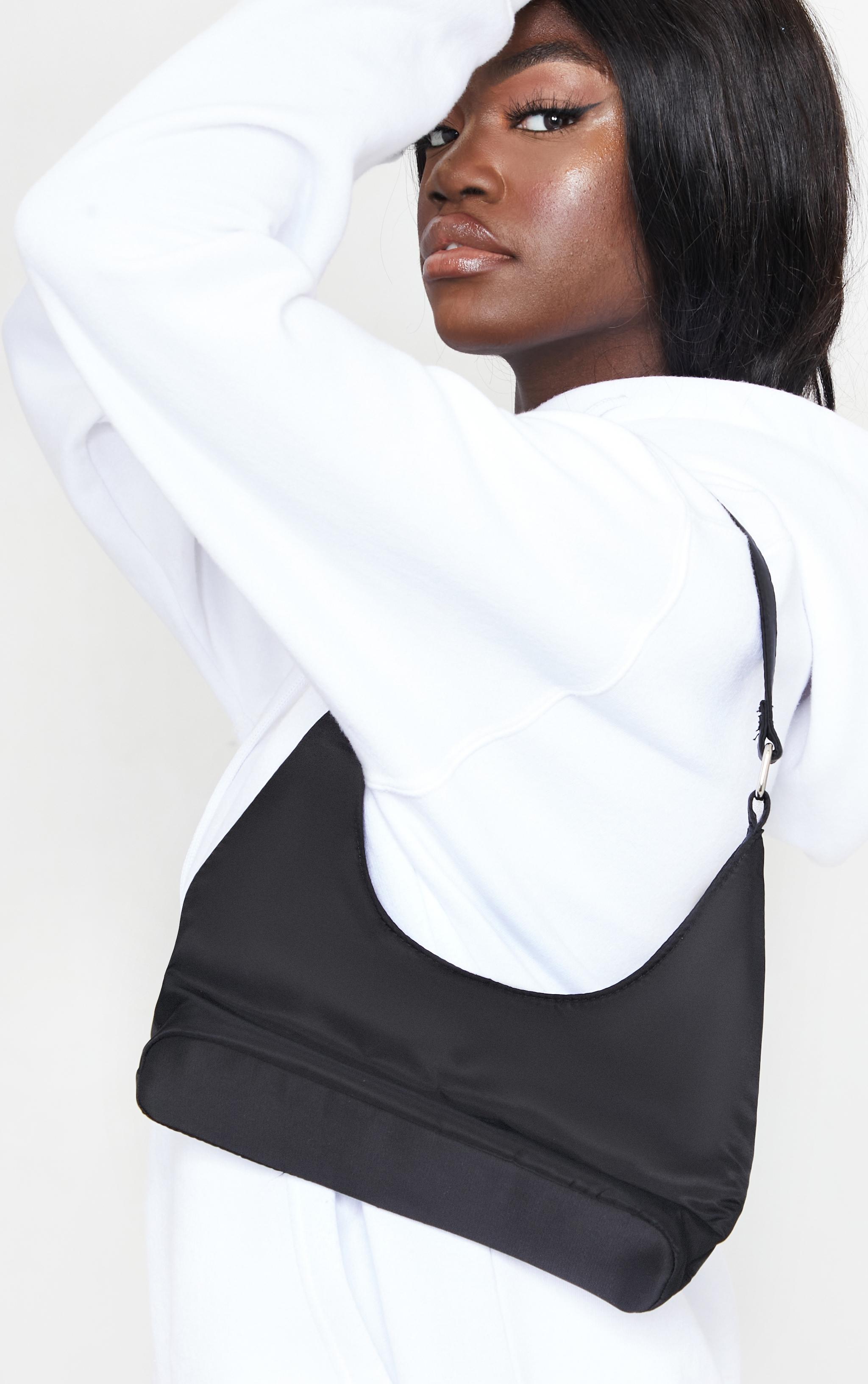 Black Slouchy Shoulder Bag 1