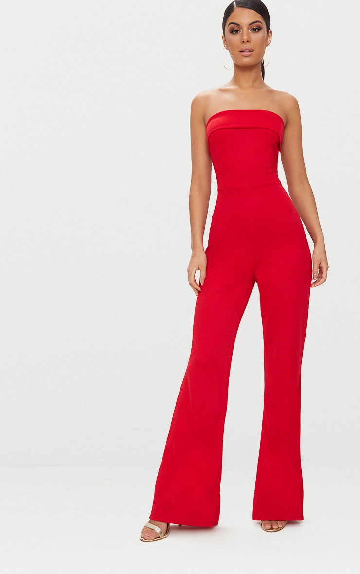 PRETTYLITTLETHING Bandeau Fold Detail Jumpsuit Recommend Official Online 100% Guaranteed XuSOqi7oL