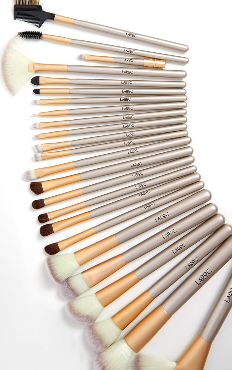 24 Piece Champagne Makeup Brush Set by Prettylittlething