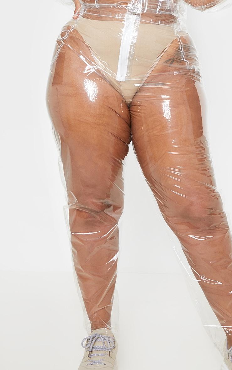 Plus Clear Transparent Straight Leg Pants 4