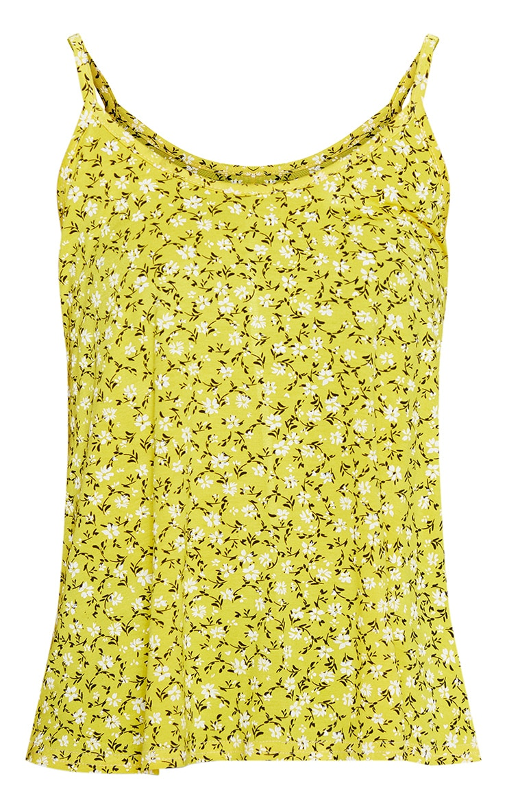Yellow Floral Printed Floaty Cami 3