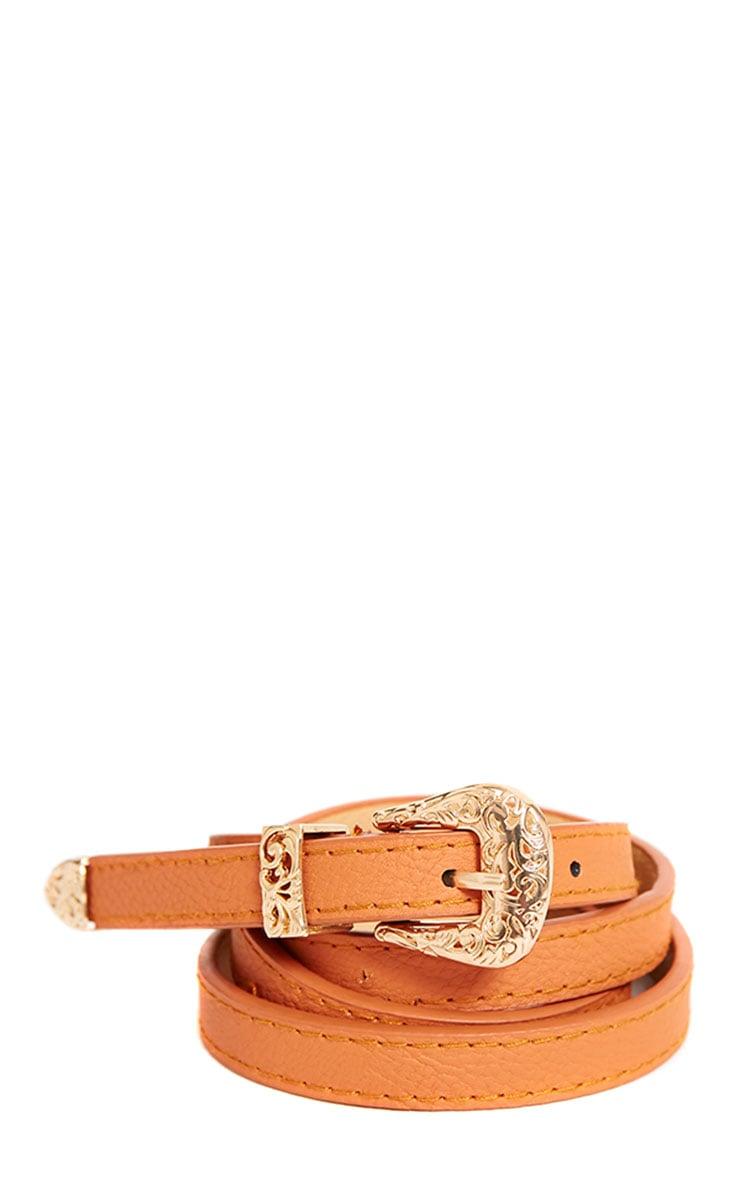 Orla Tan Skinny Belt 1