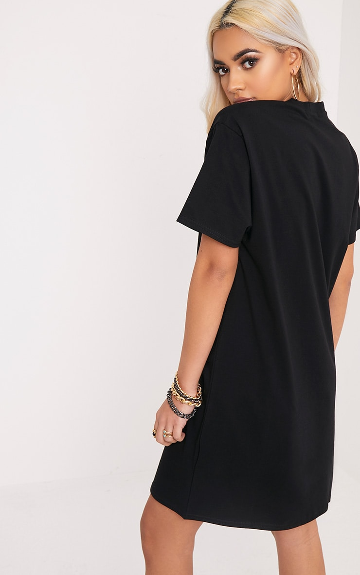 PRETTYLITTLETHING Black T Shirt Dress 2