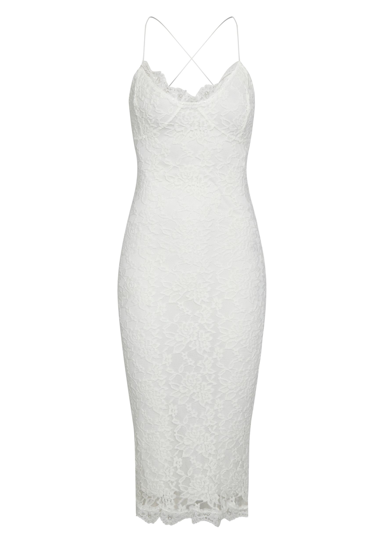 Isabelle Cream Lace Midi Dress 5