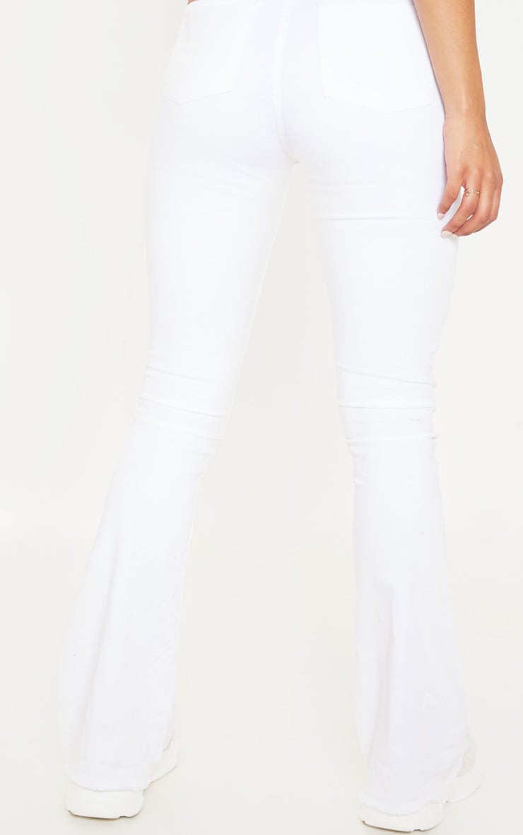 Flared White Jeans 5