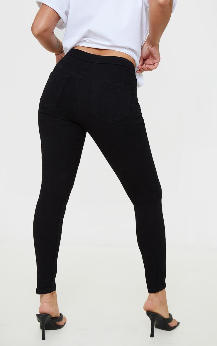 Petite Black High Rise Skinny Jeans 3