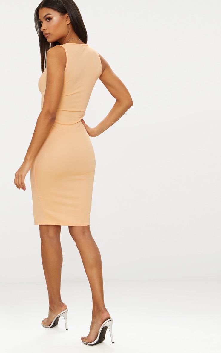 Tangerine Zip Detail Midi Dress 2