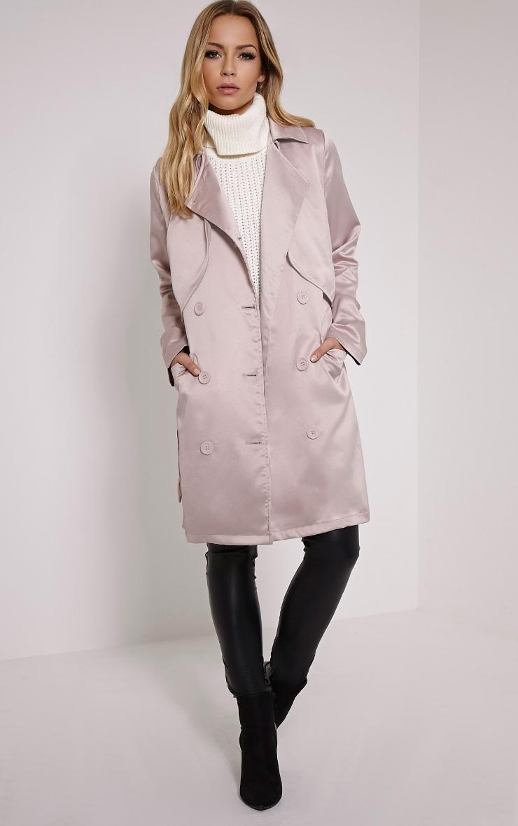 Almeria Mink Satin Feel Trench Coat 3