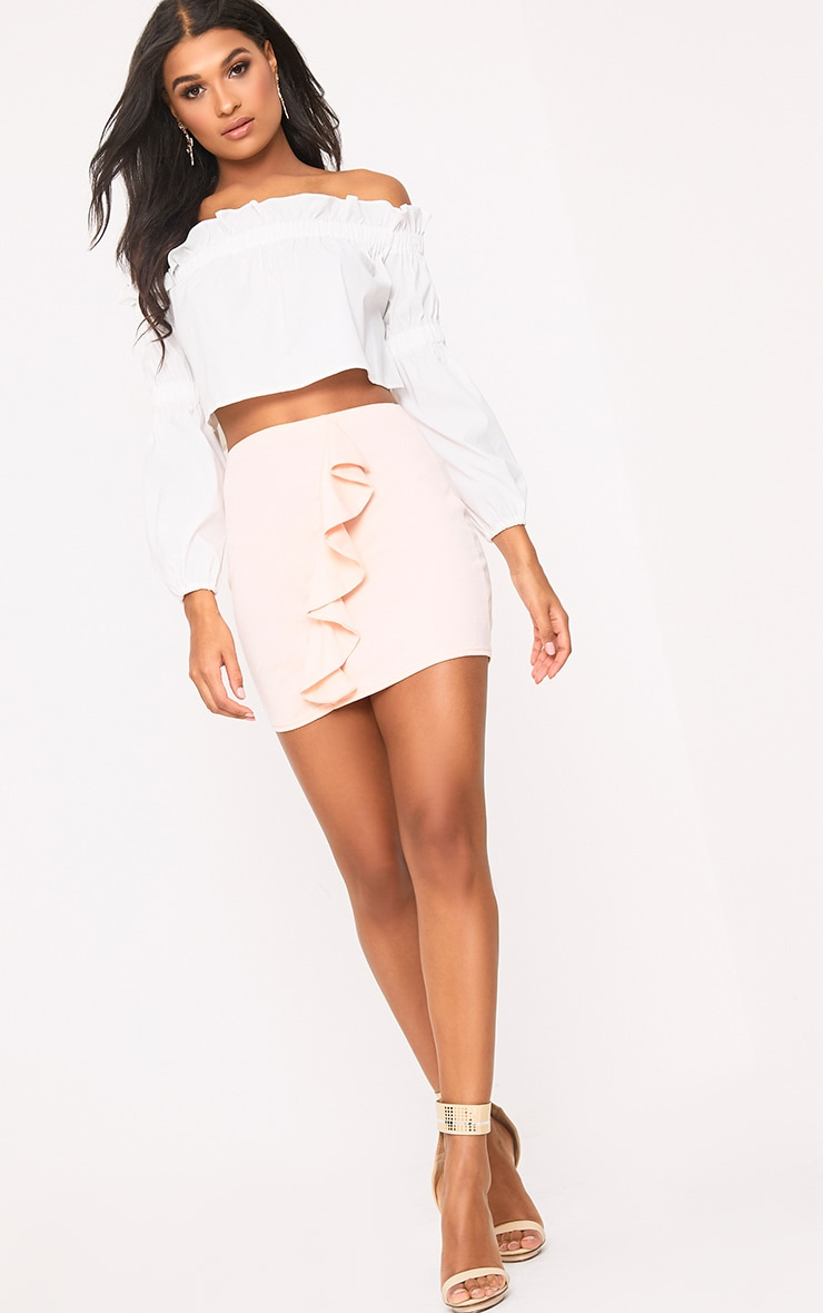 Blush Ruffle Mini Skirt 5