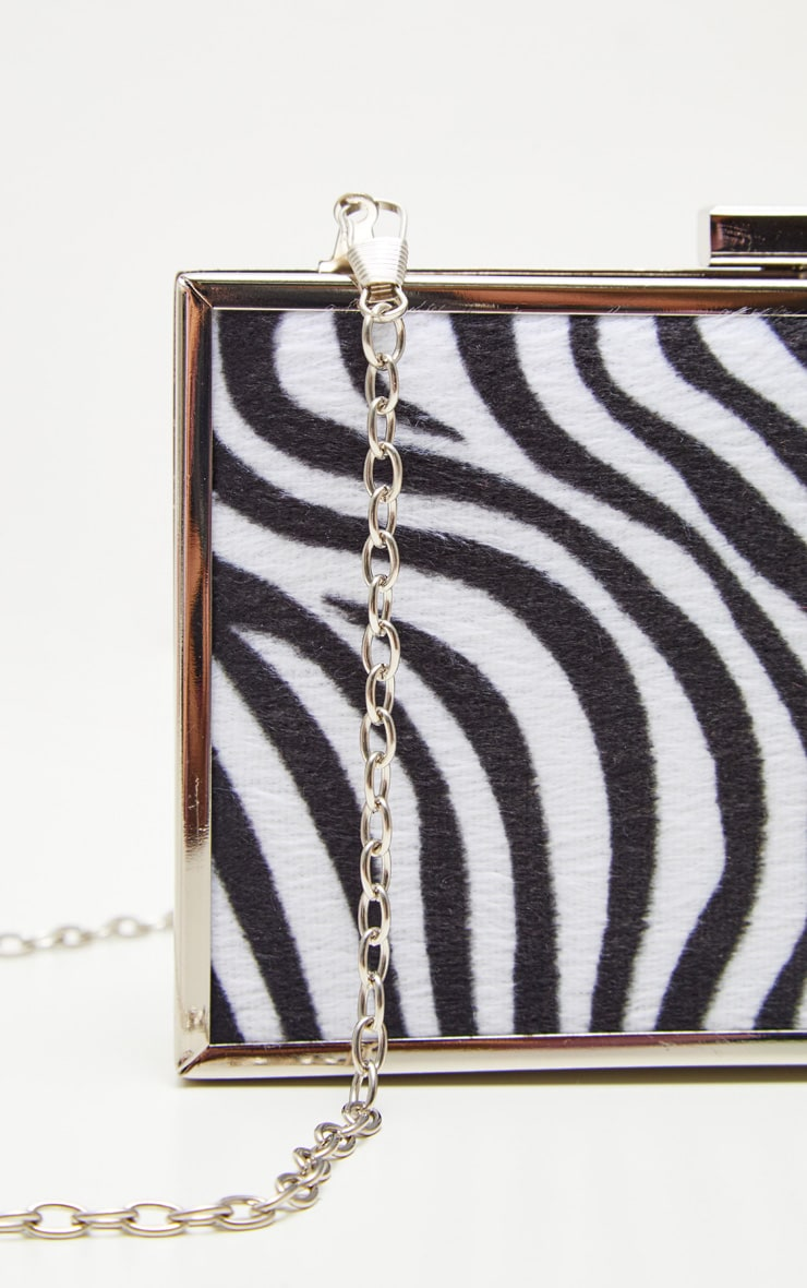 Zebra Square Clutch 3
