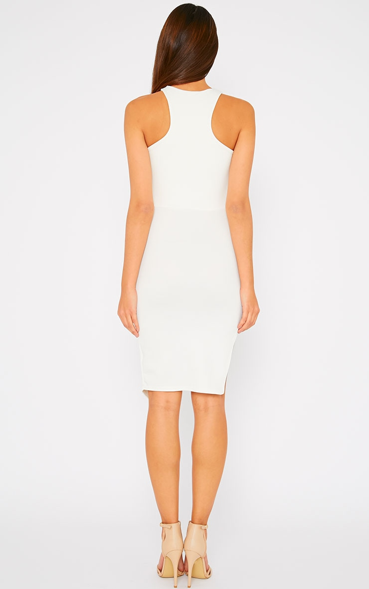 Sydney Cream Cut Out Curve Split Dress 3