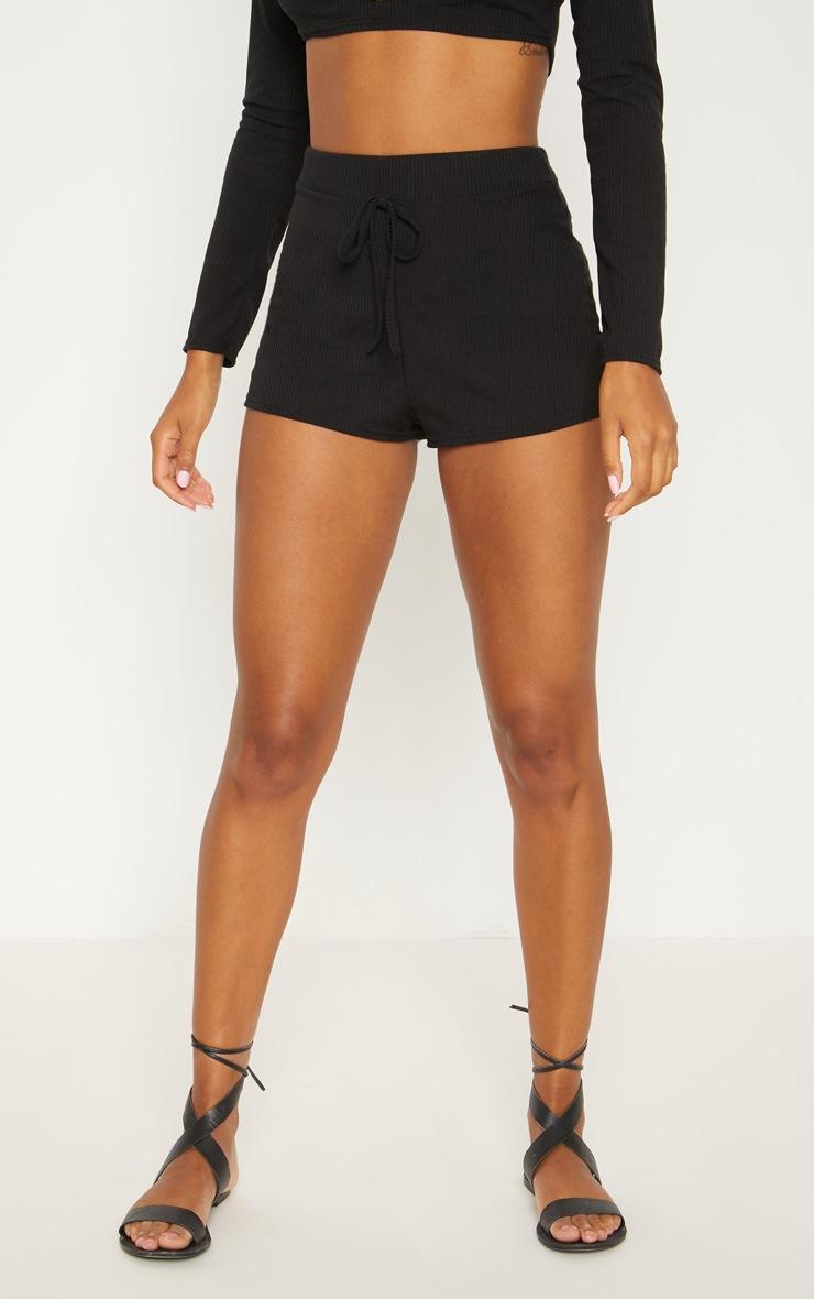 Black Rib Shorts 2