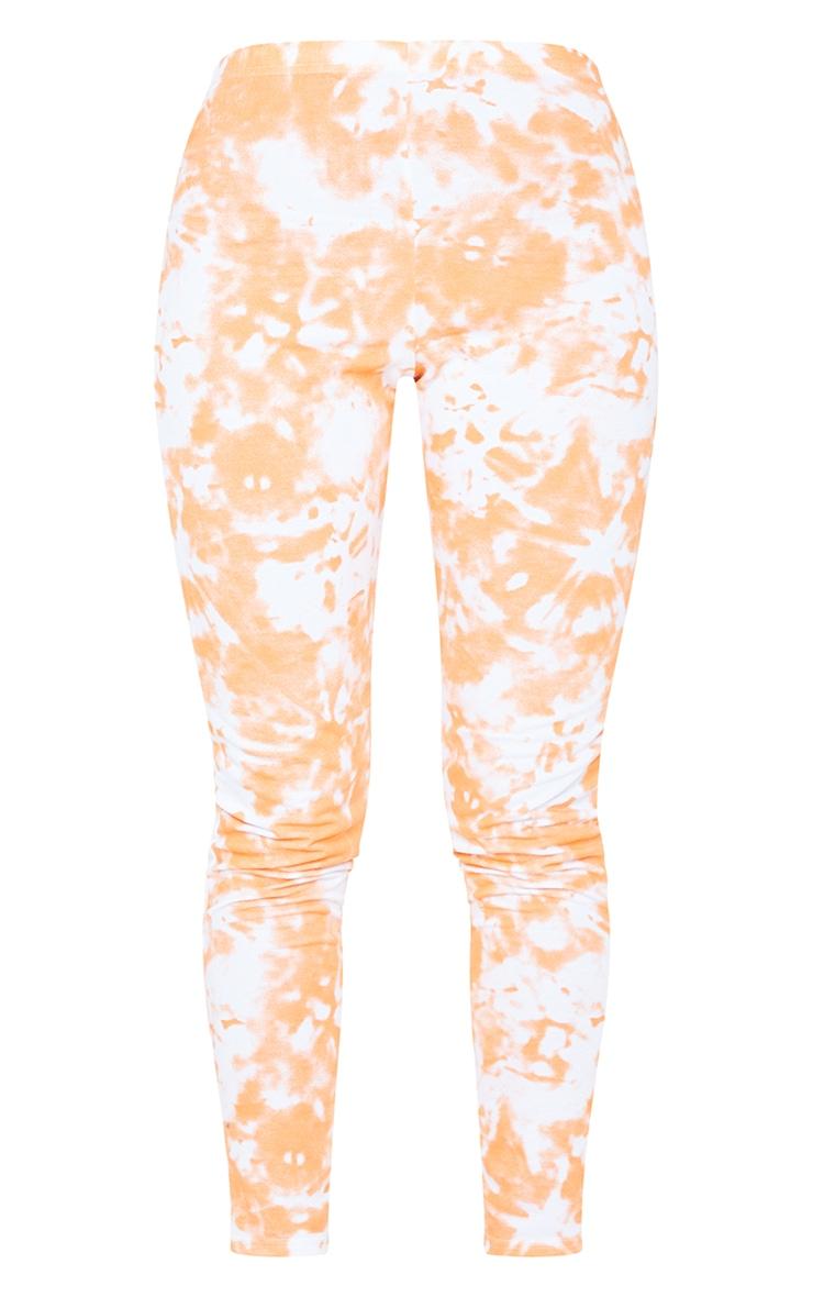 Orange Tie Dye High Waist Skinny Joggers 5