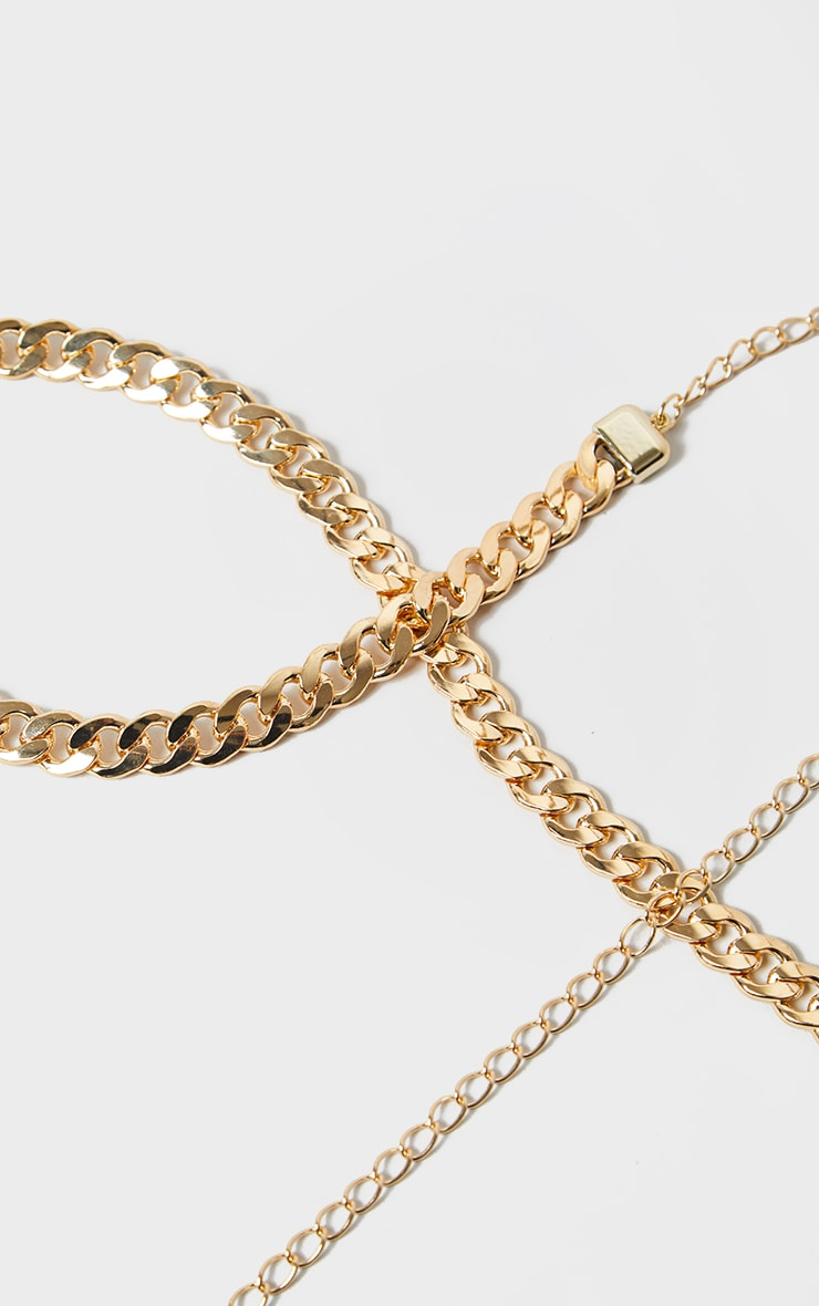 Gold Chunky Single Chain Belt 3