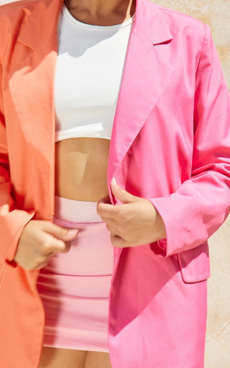 Petite Pink Oversized Contrast Blazer 4