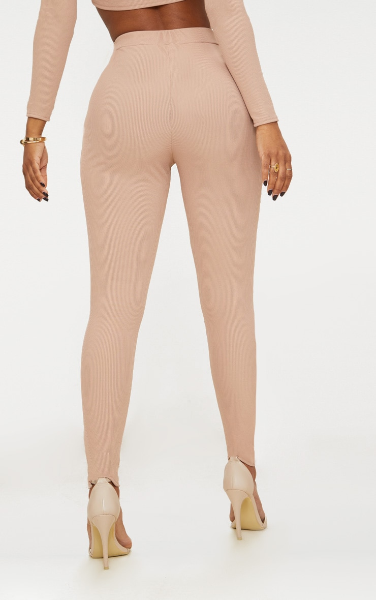 Shape Nude Ribbed High Waist Leggings 4