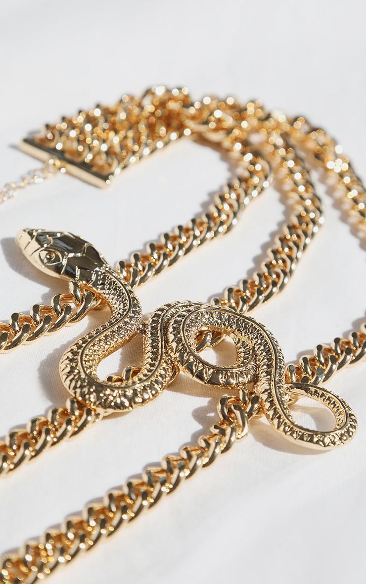Gold Multi Chain Snake Choker 2