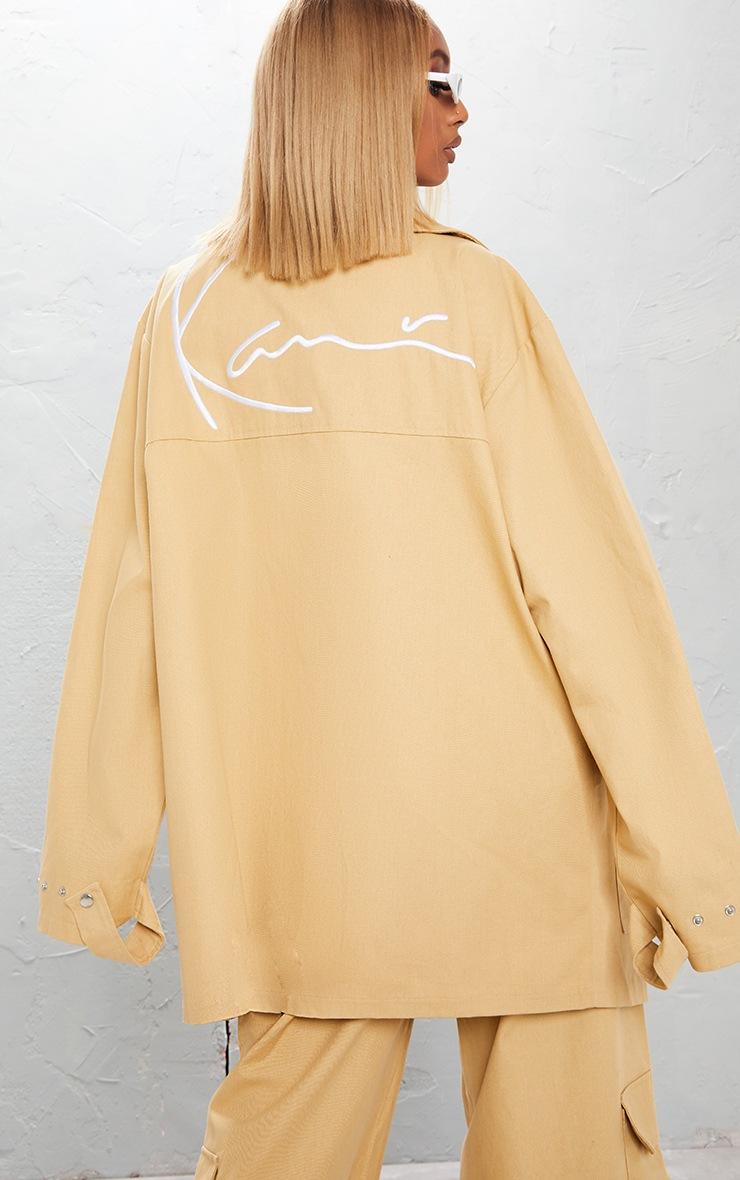 KARL KANI Camel Embroidered Oversized Cargo Jacket 4