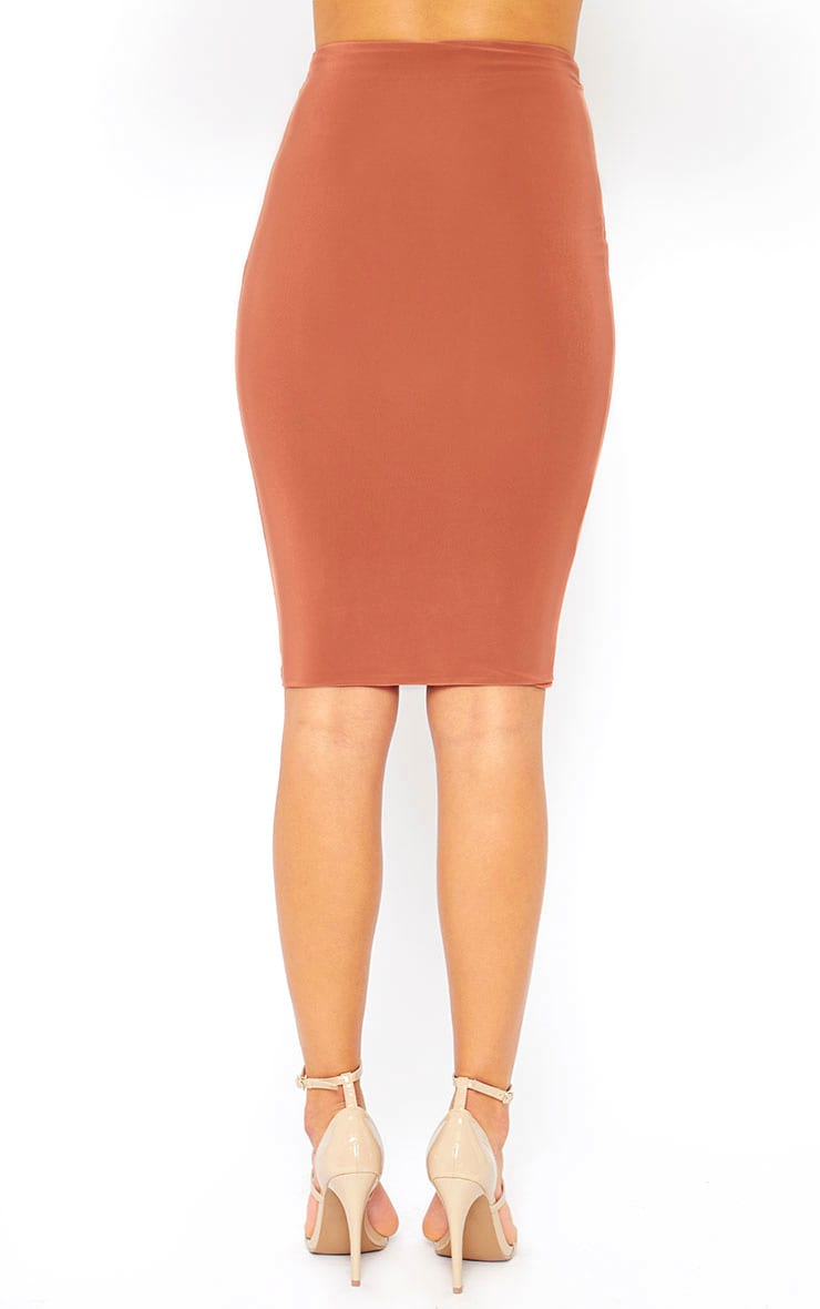 Mulane Rust Midi Skirt 4