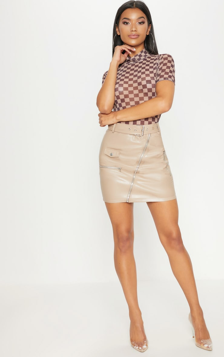 Stone Biker Belted Mini Skirt 5