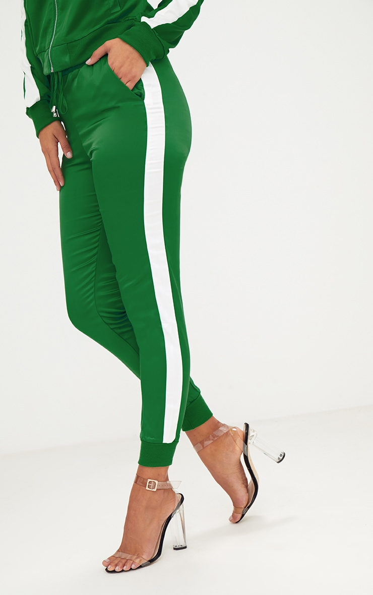 Green Sport Stripe Jogger  5