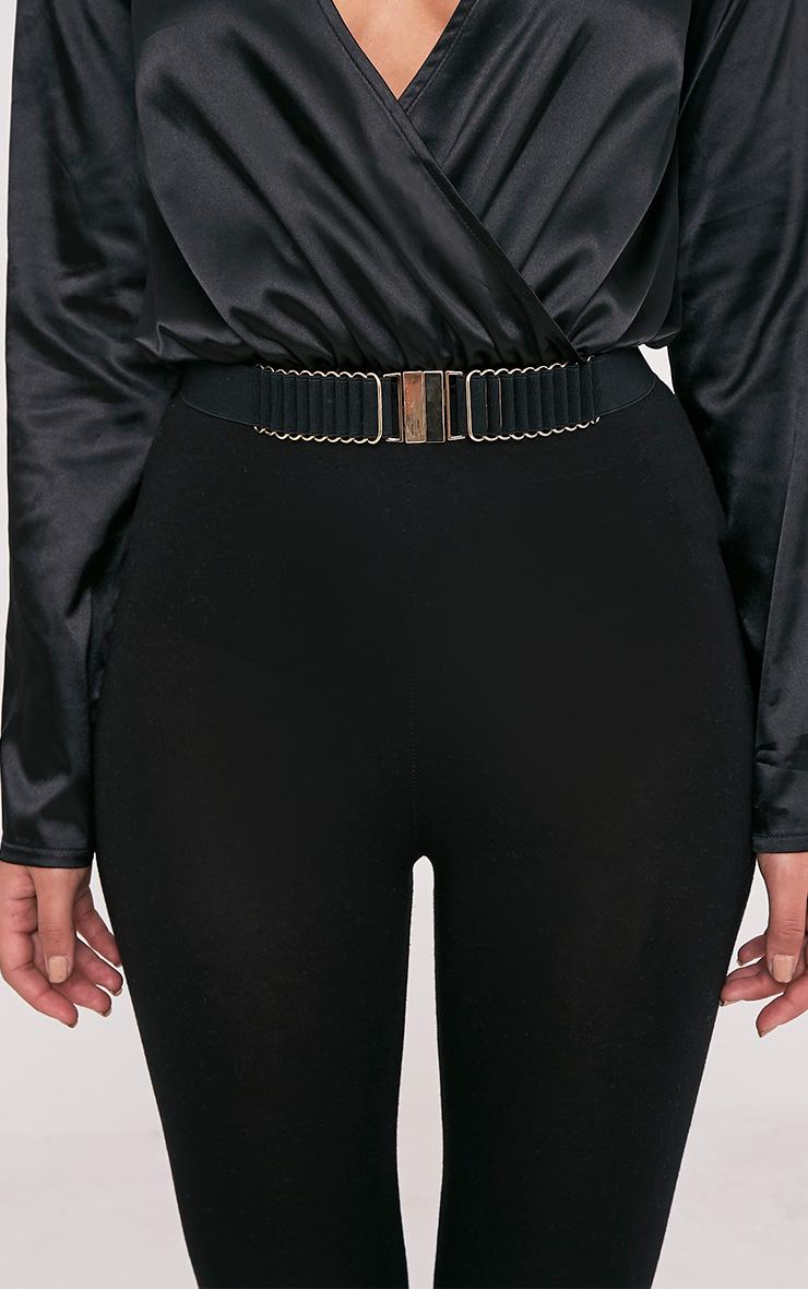 Delphy Black Plaited Detail Belt 2