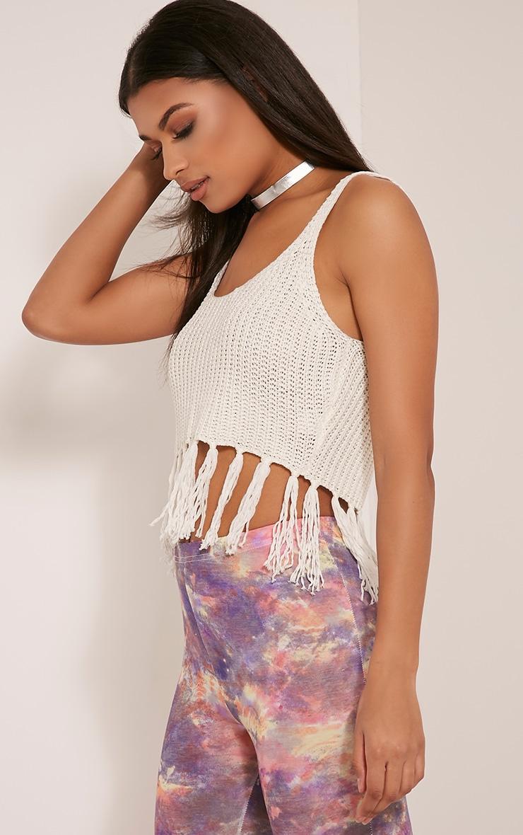 Marisol White Tassel Crochet Bralet 4
