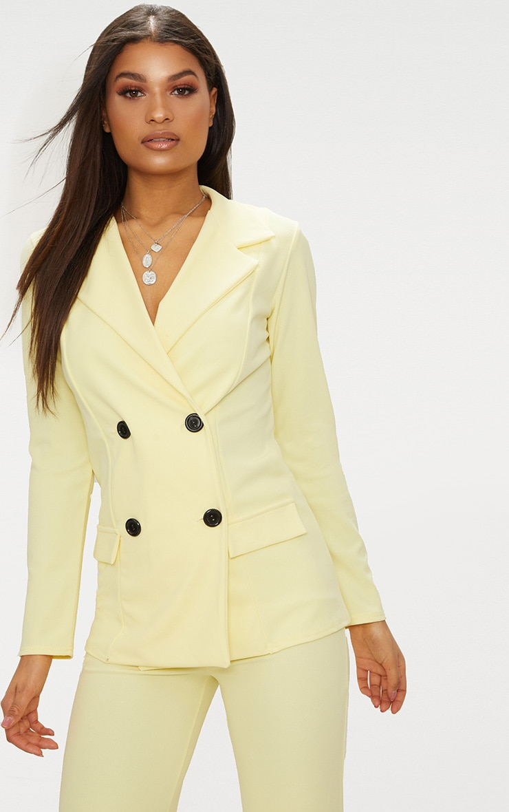 Lemon Double Breasted Blazer 1